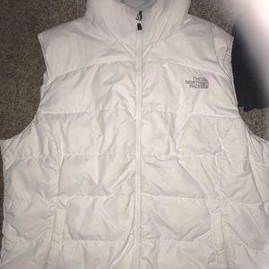 Xl white North face vest